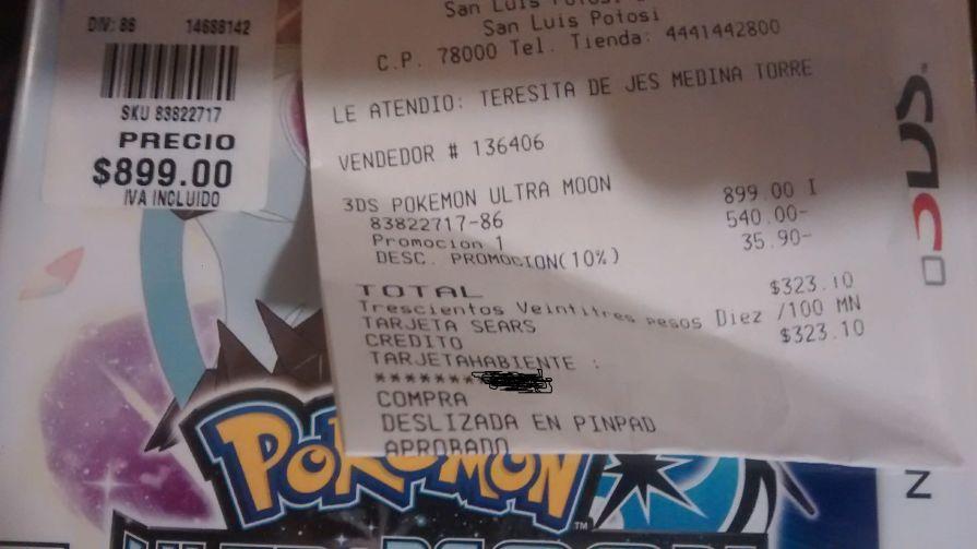 Sears SLP: Pokémon Ultra Moon 3DS