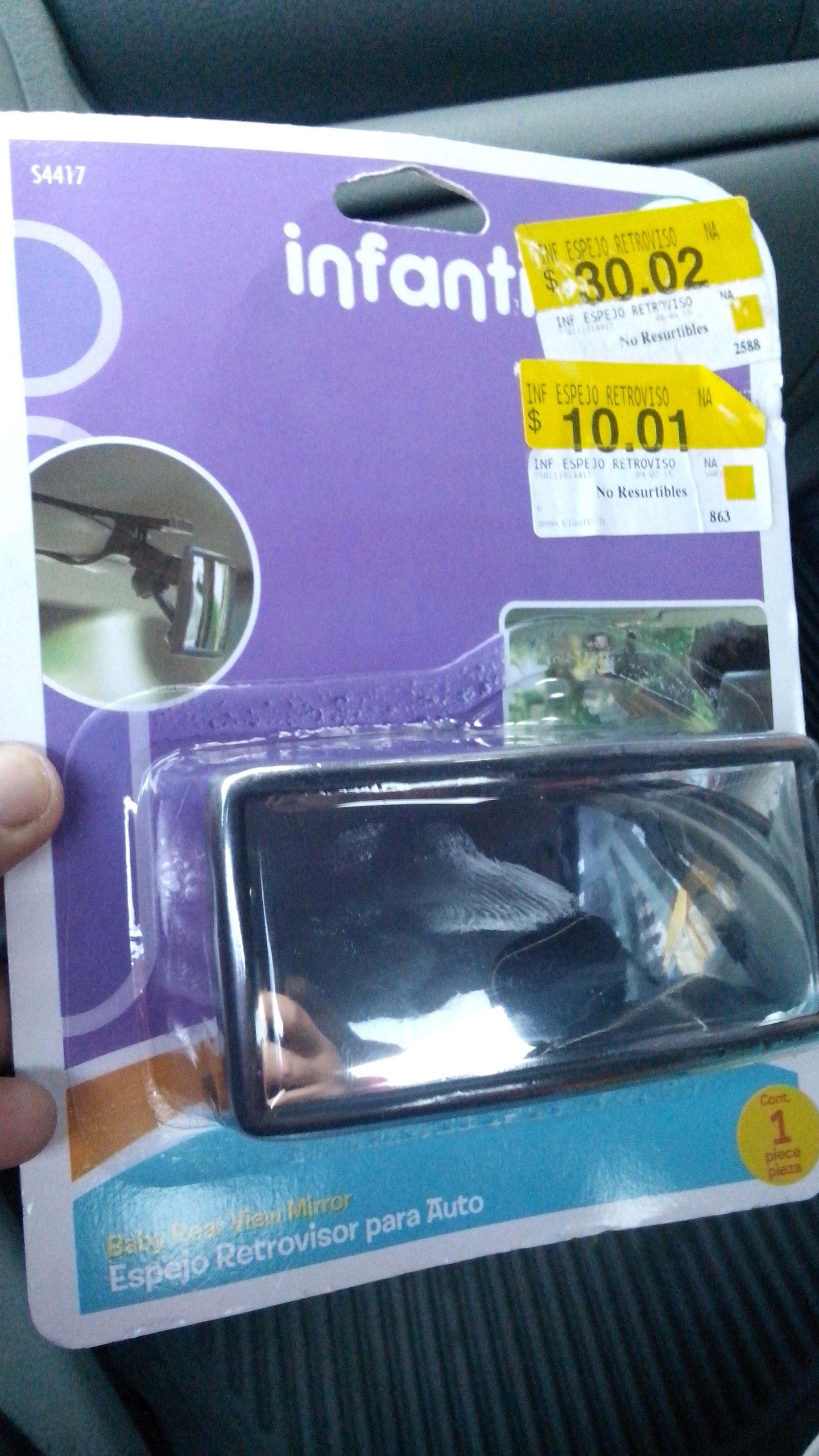 Walmart: Retrovisor para auto (vigila al bebé o a la suegra, jeje) $10.01