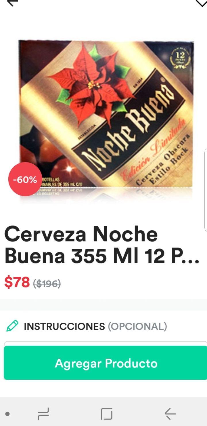 Mercadoni: 12 de cerveza noche buena con 60% de desc