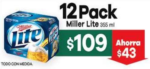 7 Eleven: 12 pack de cervezas Miller Lite $109