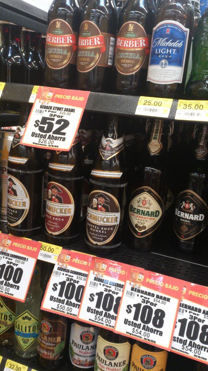 Walmart: 3x2 en selección de cervezas importadas y artesanales