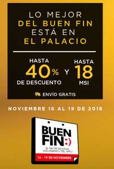 Ofertas del Buen Fin 2018 en Palacio de Hierro: hasta 40% de descuento, 18 MSI, puntos dobles