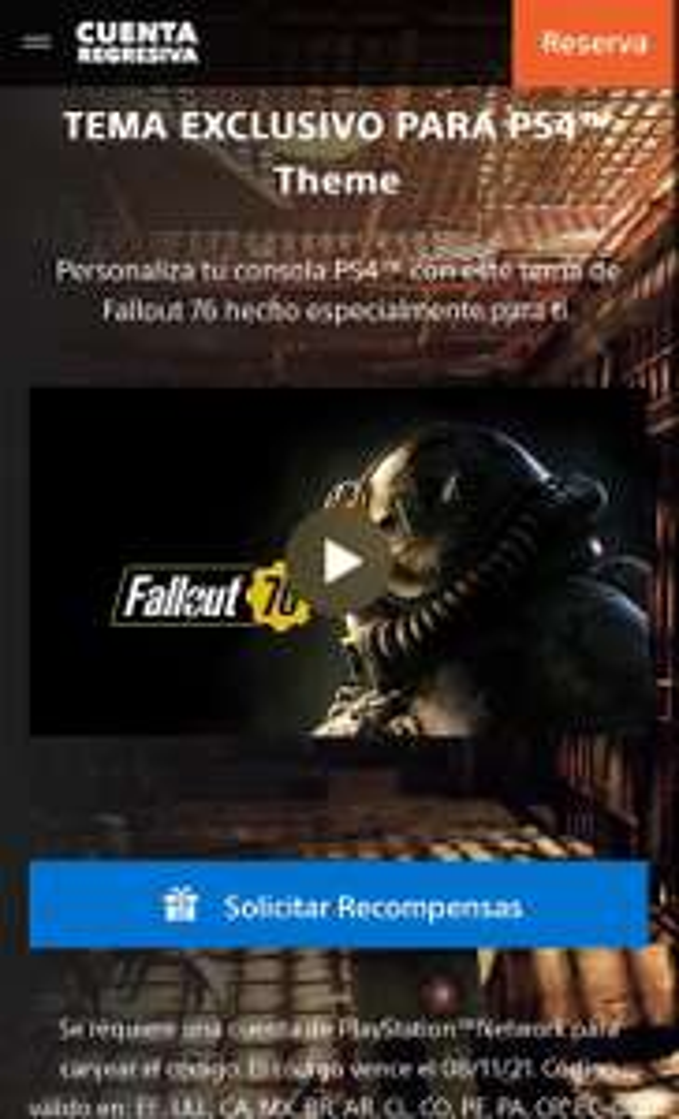 Tema gratis Fallout 76 PS4