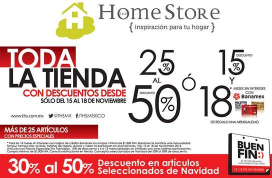 Ofertas del Buen Fin 2013 en The Home Store