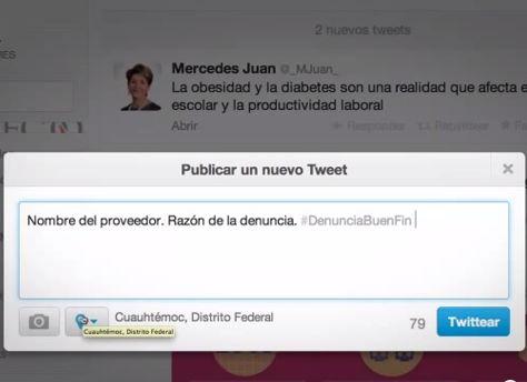 Denuncia irregularidades en el Buen Fin por Twitter ante Profeco