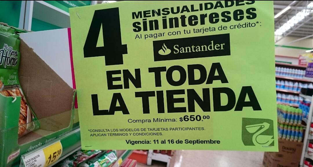 La Comer: 4MSI con Santander en TODA LA TIENDA