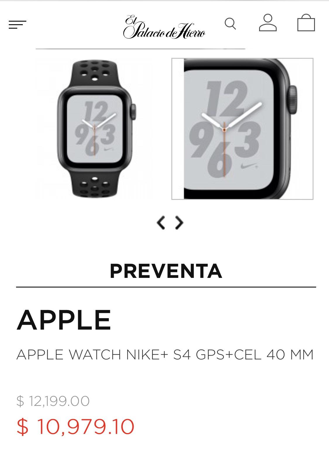Palacio de Hierro: Apple Watch Series 4
