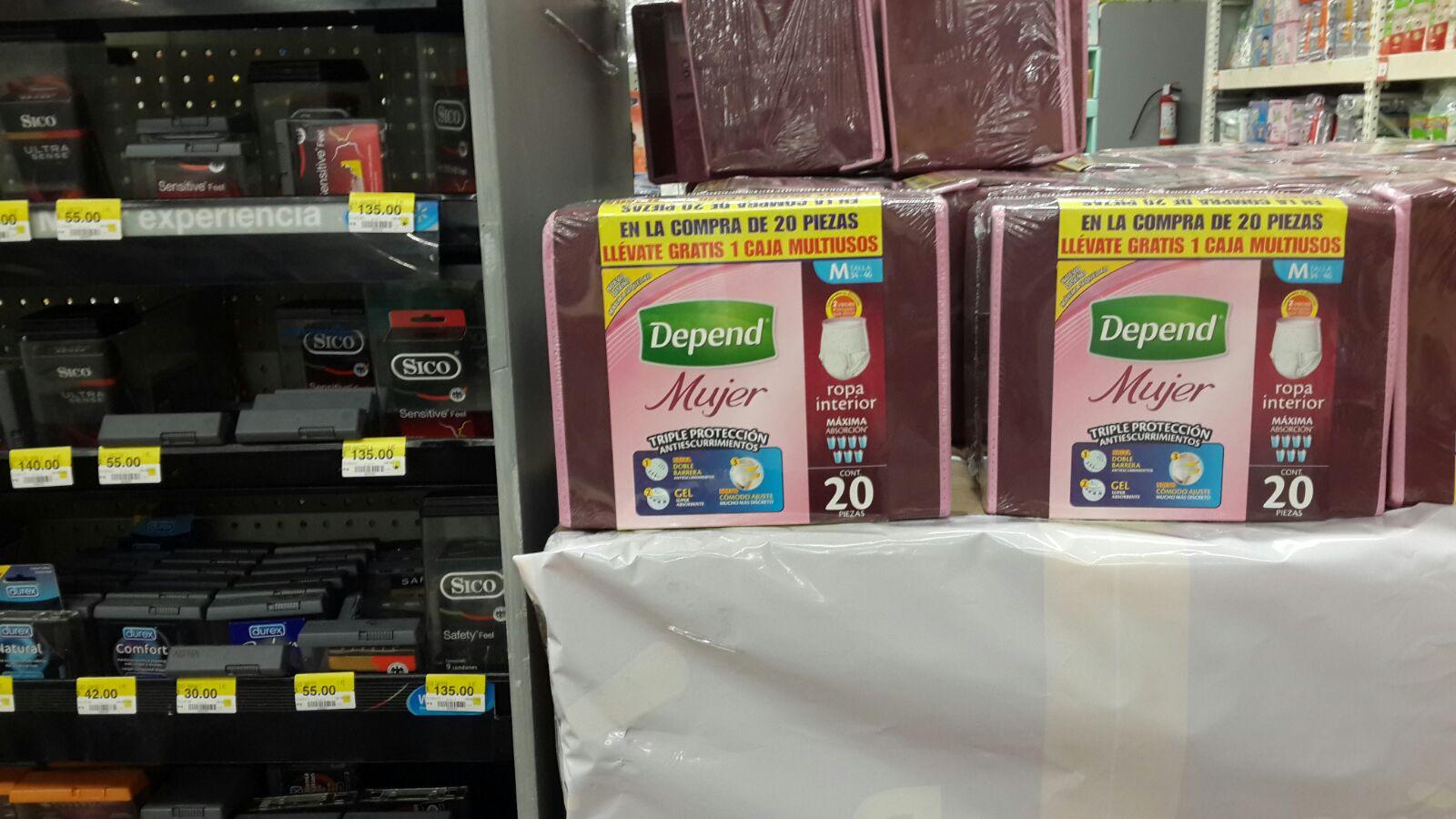 Walmart: Pañales para adultos DEPEND de $185 a $35.01