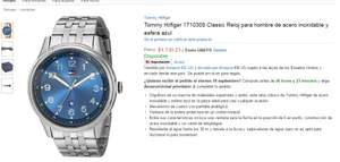 AMAZON: Relojes Tommy Hilfiger $1033 y $1139