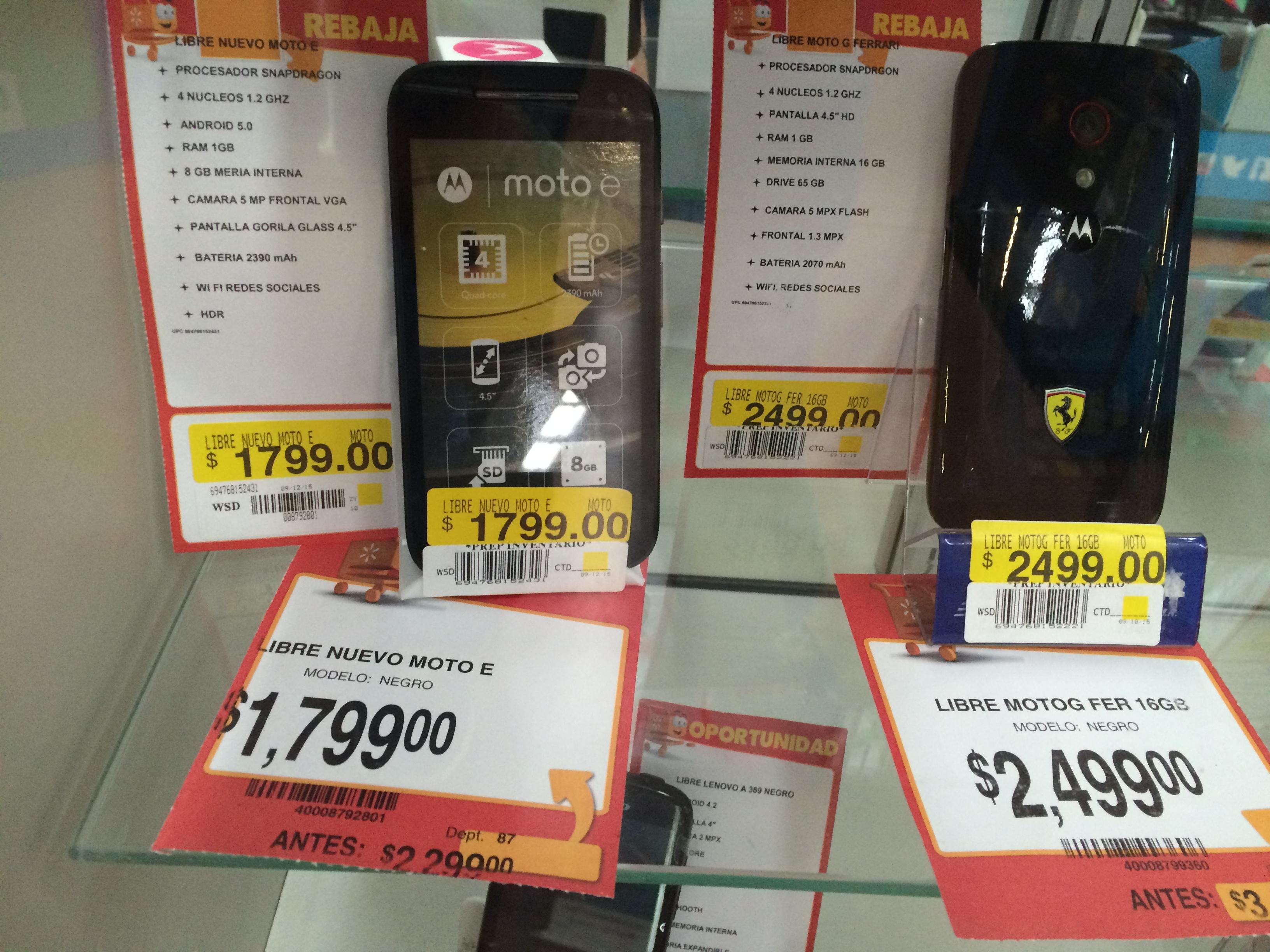 Walmart: Motorola Moto e a $1799