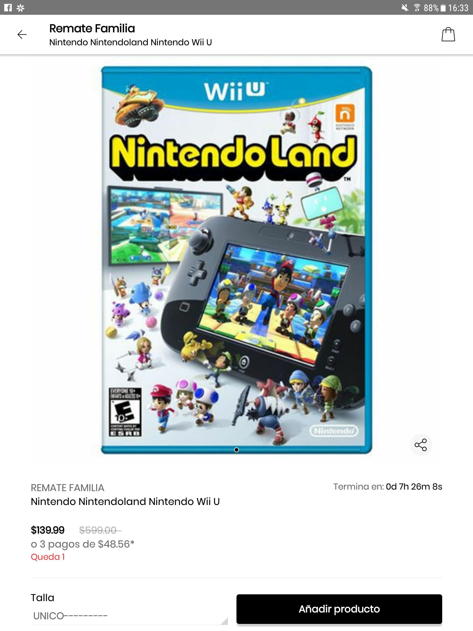 Privalia: Nintendoland para Wii U $139.00 desde la APP