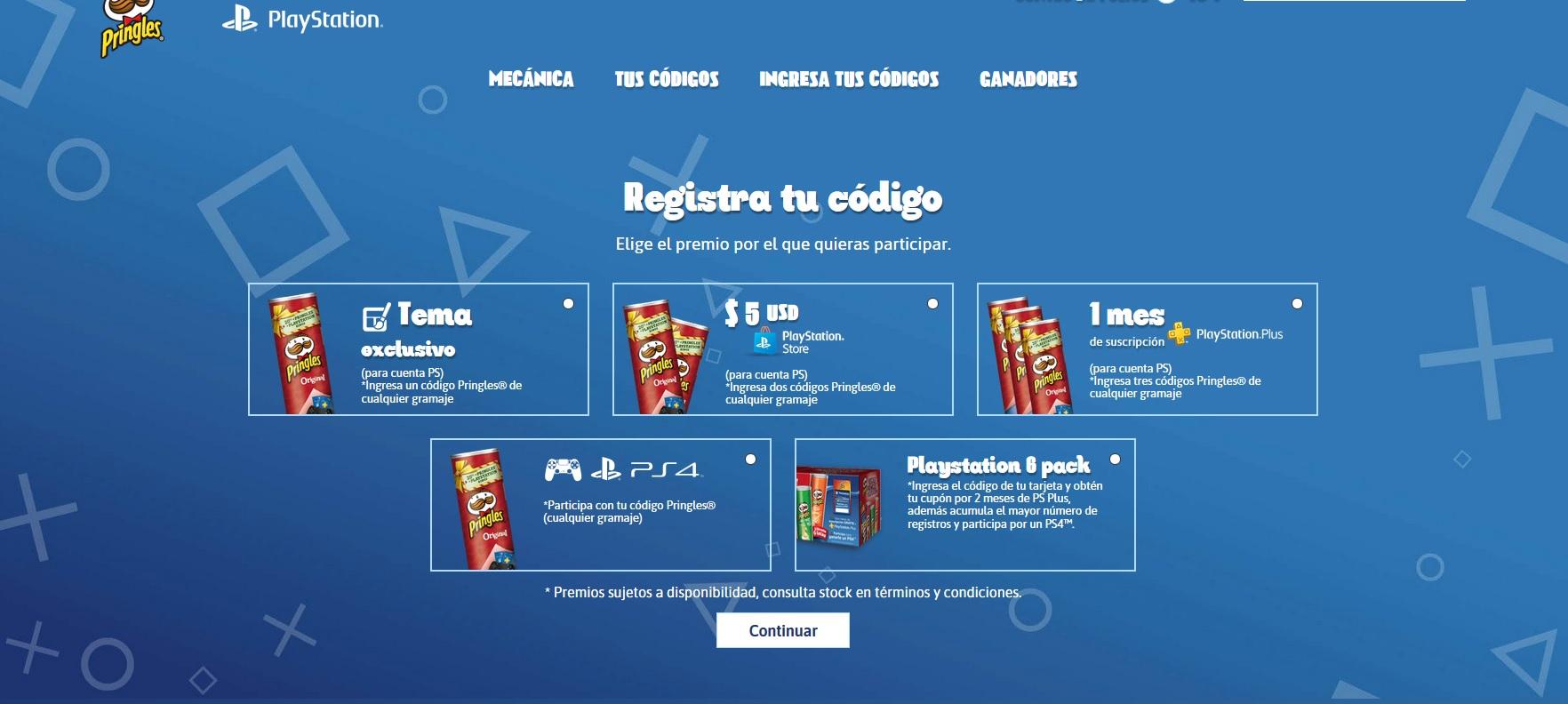 Pringles: Registra dos tubos participantes y llevate $5 dolares en tu cuenta PSN