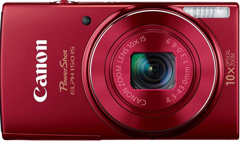 Amazon - Canon PowerShot ELPH 150 IS Cámara digital (roja) $1,499