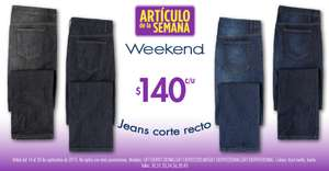 Suburbia: jeans para hombre Weekend $140