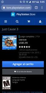 Playstation Store: Just Cause 3