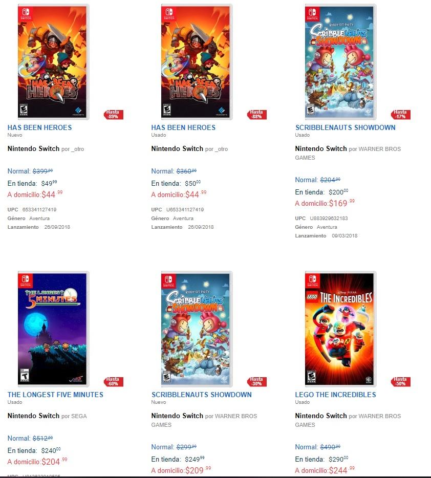 Game Planet: Juegos para Nintendo Switch desde $44, Mario Rabitts $300 (algunos seminuevos)