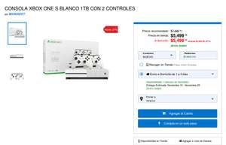 Game Planet: CONSOLA XBOX ONE S BLANCO 1TB CON 2 CONTROLES