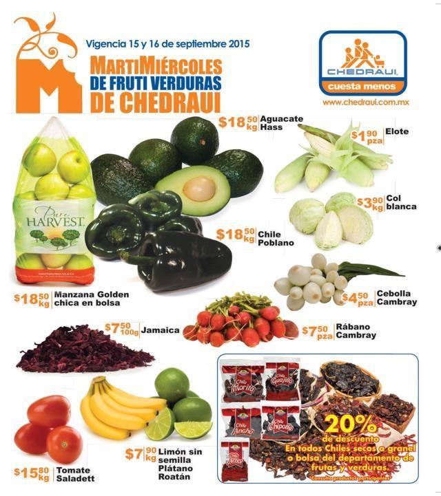 Chedraui folleto ofertas frutas martes y miércoles