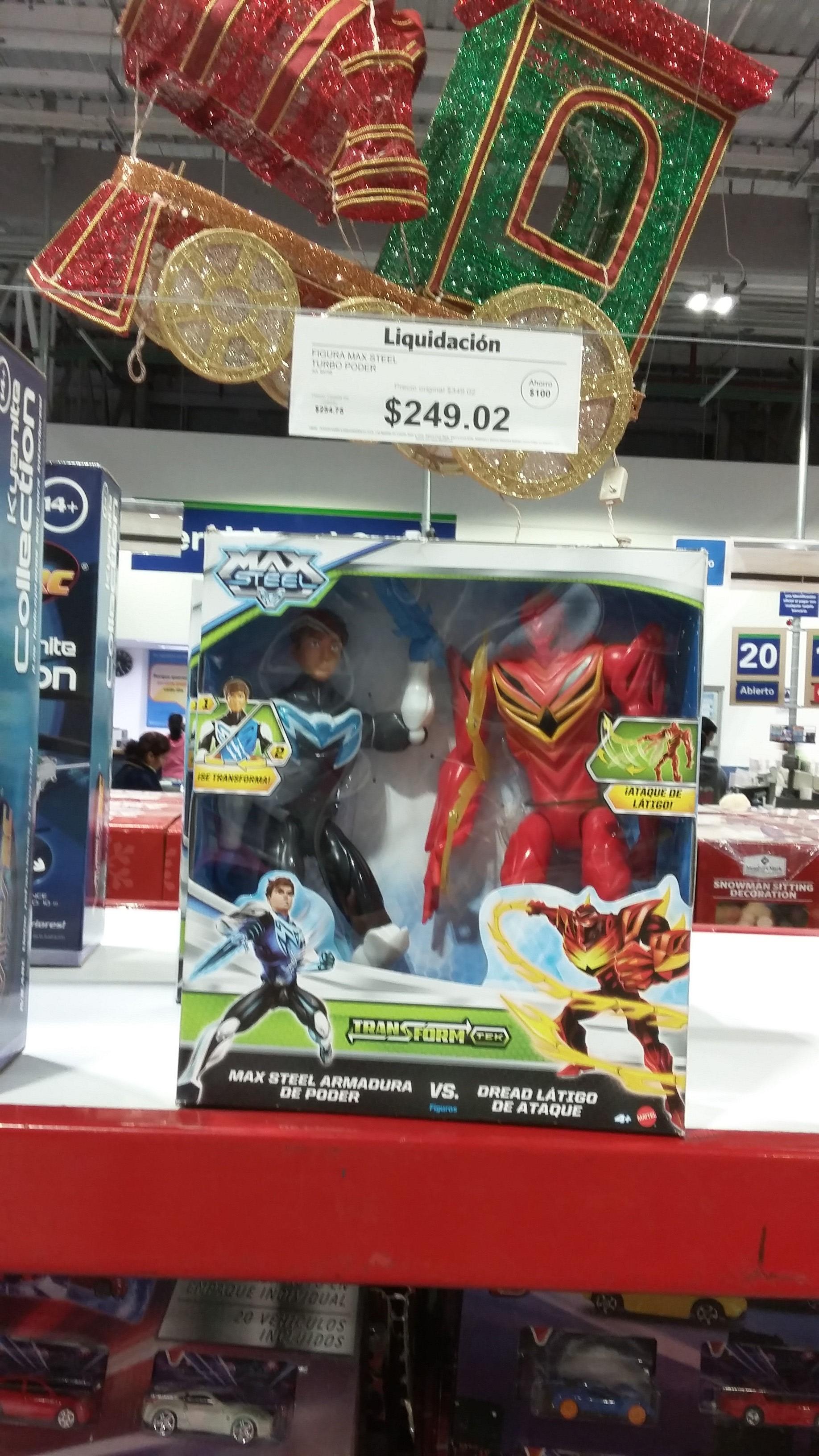 "Sam's Club: juguete max steel $249.02 y avengers ""thor"" $388.01"