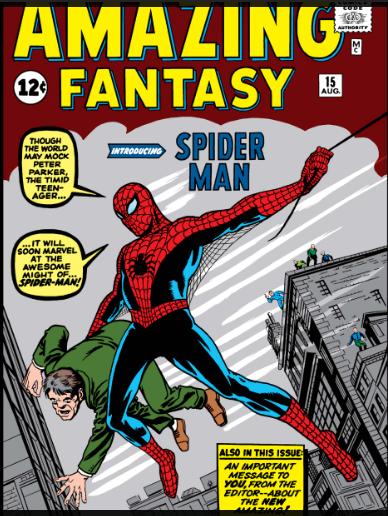 "Marvel: COMIC SPIDERMAN ""GRATIS"" Amazing Fantasy 1962 online (En inglés)"