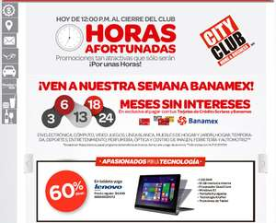 "City Club: Lenovo Yoga Tablet 2 8"" a $1,999"