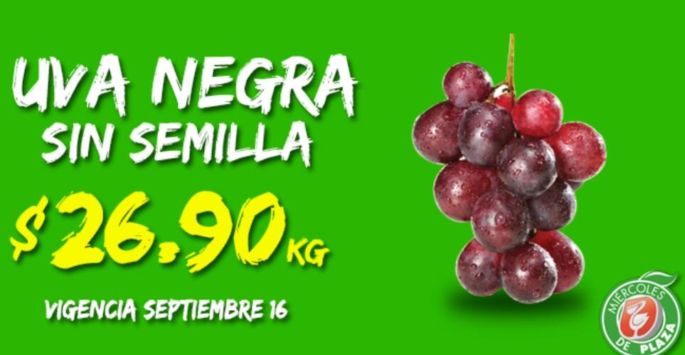 Miércoles de Plaza en La Comer septiembre 16: uva $26.90 y más