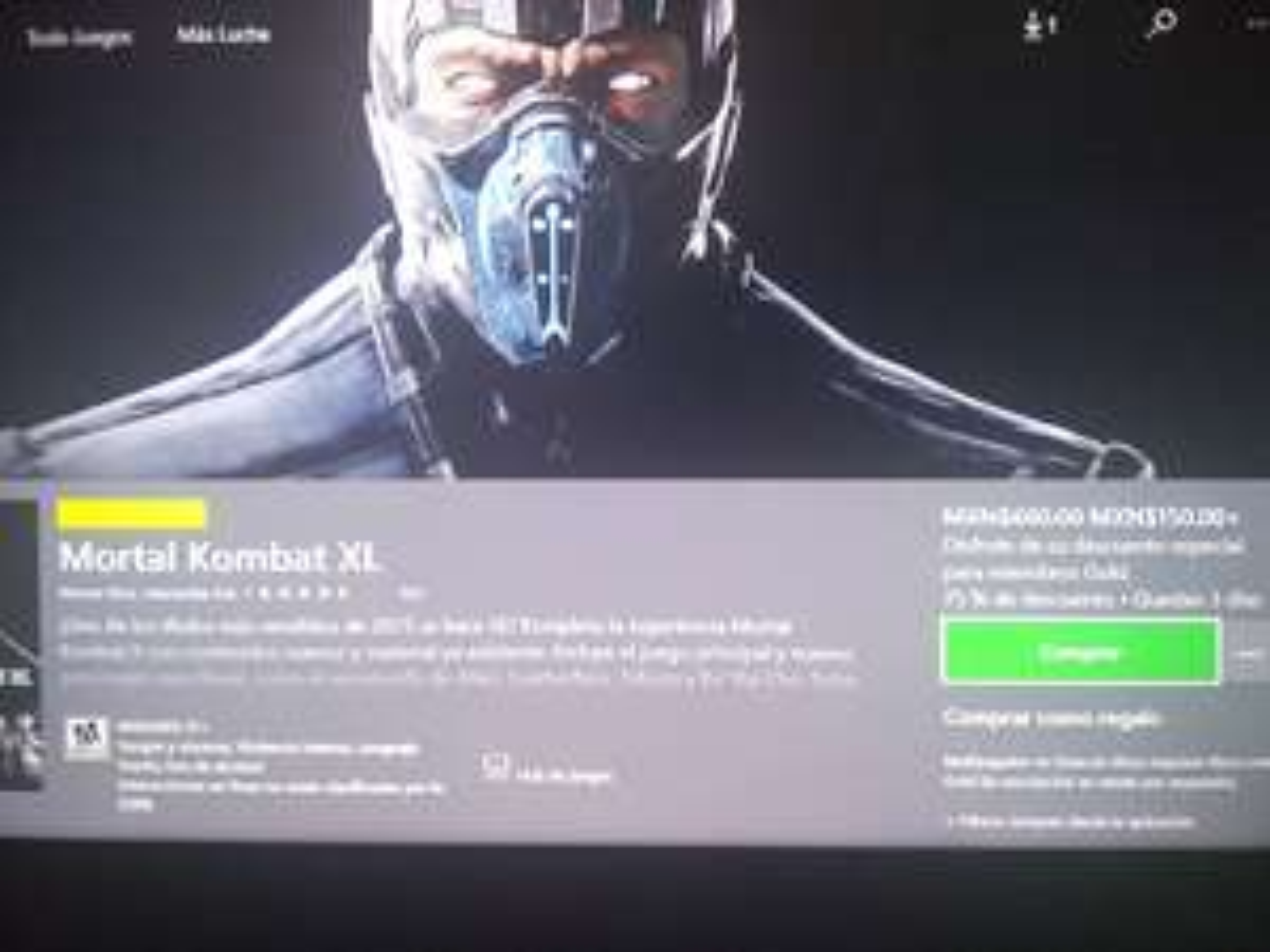 Microsoft Store: Mortal kombat XL