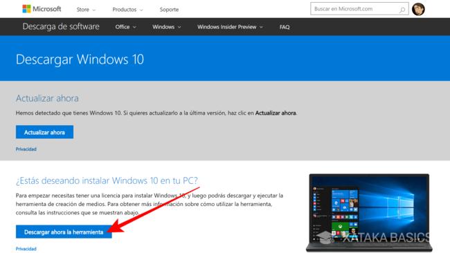 Actualización gratis a Windows 10