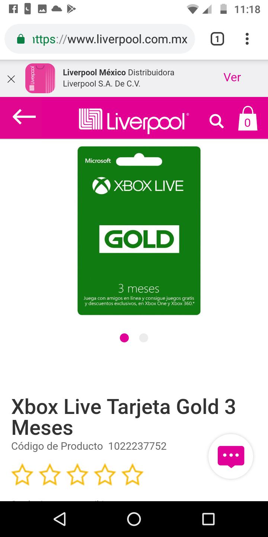 Liverpool: Xbox Gold 3 meses