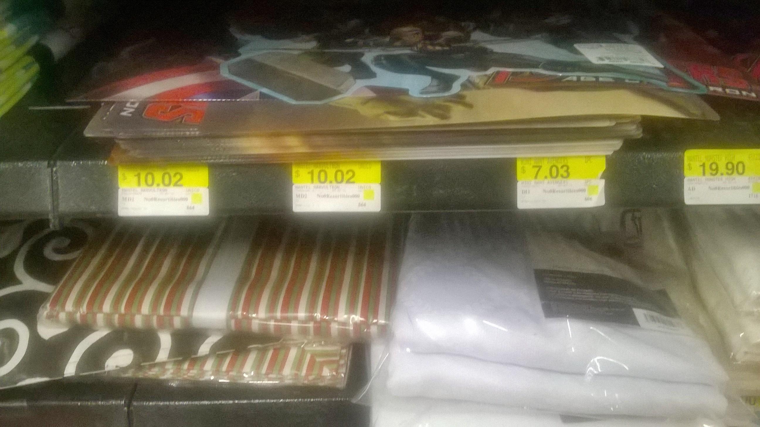 WalMart Manteles Avengers y Vasos Angry Birds desde $7.03