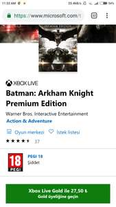 Xbox store Turquía: Batman Arkham night deluxe edition