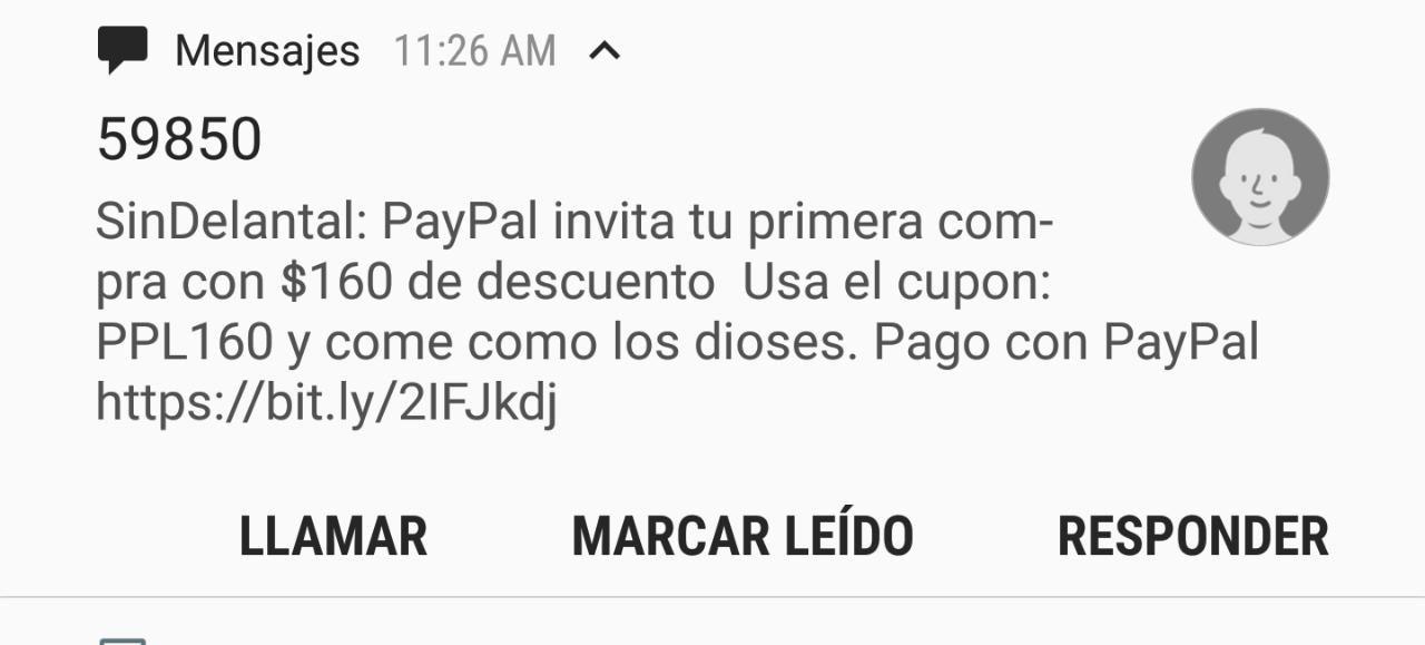 Sin Delantal: descuento $160 pagando con PayPal NUEVOS USUARIOS