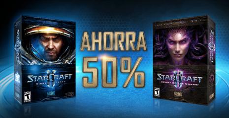 Starcraft 2 y Heart of the swarm 50% de descuento