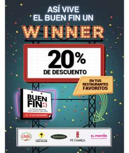 Buen Fin 2018: Restaurantes con wow rewards-20%