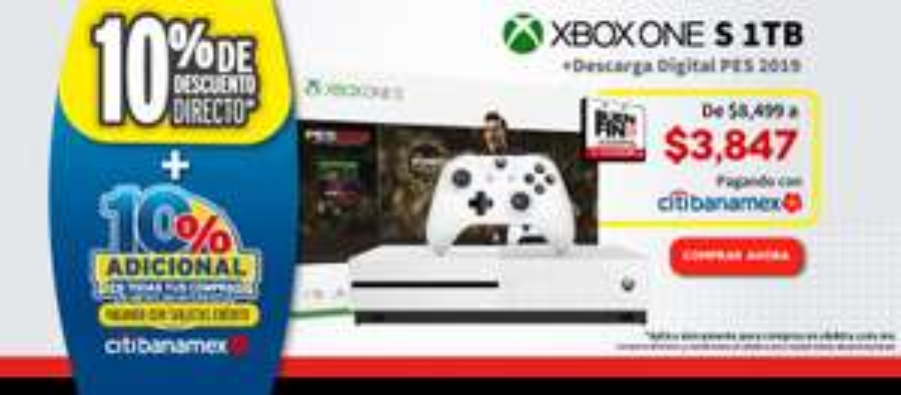 Elektra: Xbox One s 1 tb (Pagando con Citibanamex)