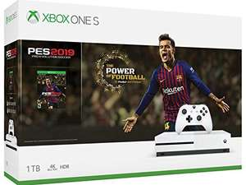 Amazon: Xbox One S 1TB + Pro Evolution Soccer 2019 (Pagando con tarjetas participantes)