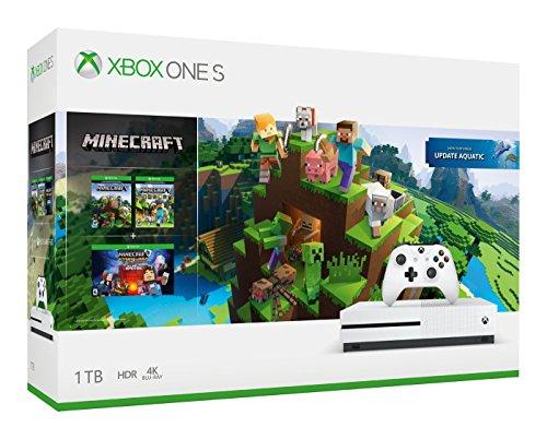 Amazon: Xbox One S 1 TB + Paquete Minecraft (Pagando con Tarjetas participantes)