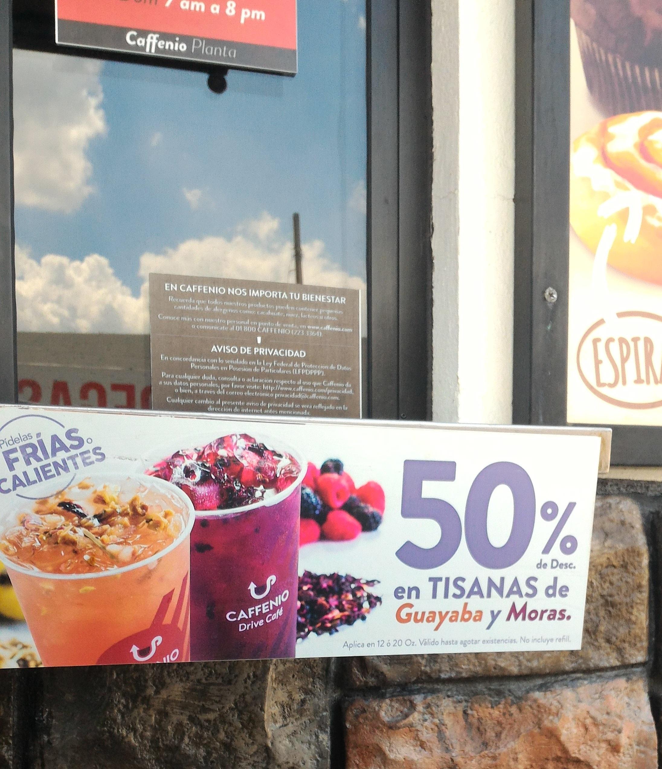 CAFFENIO (Son, Sin, BC): Tisanas en 50% de descento (Grande 20 pesos)