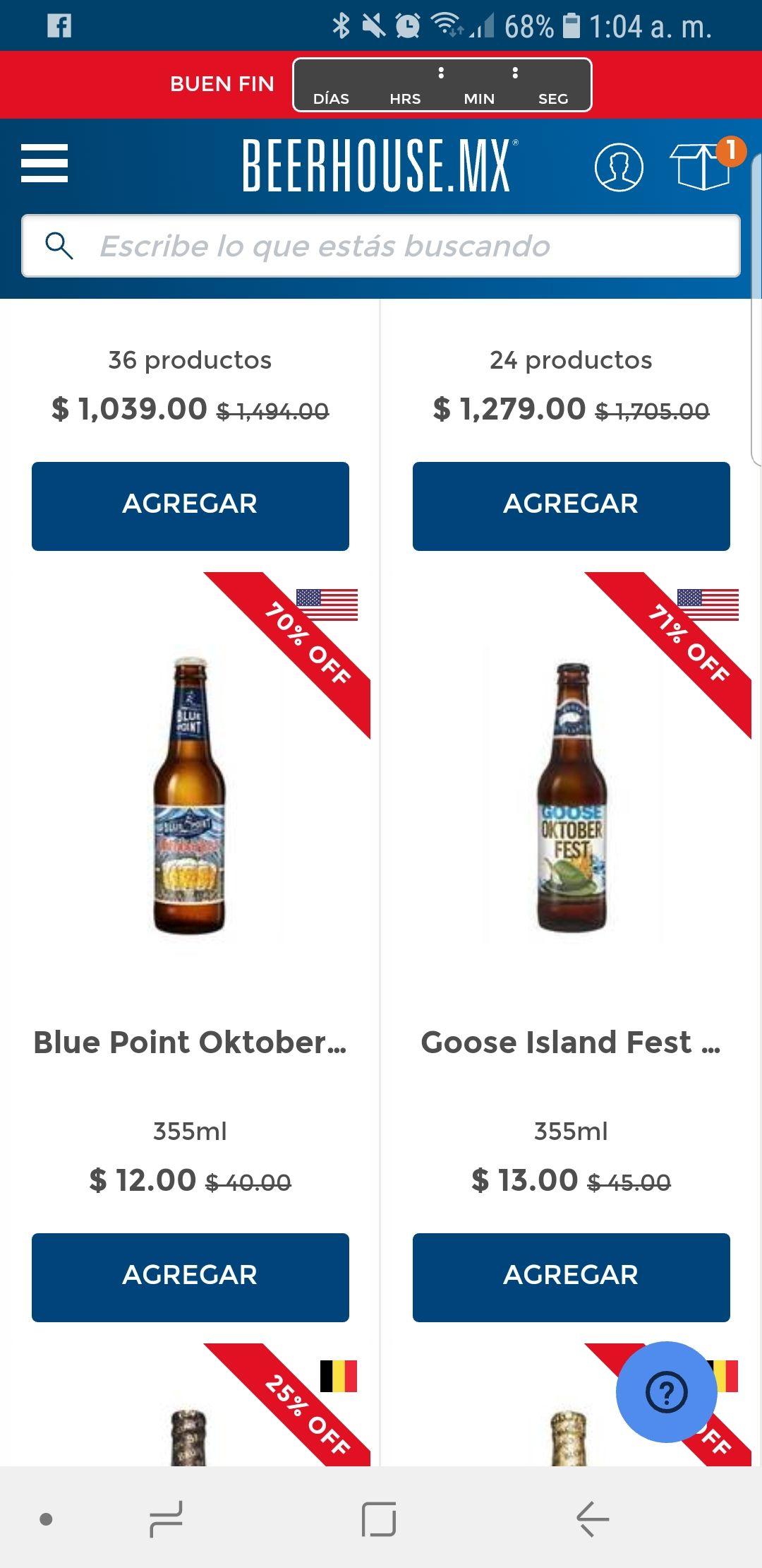 Buen Fin 2018 en Beerhouse: cervezas en descuento +10% con MercadoPago o PayPal