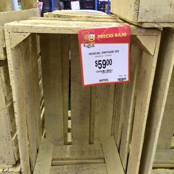 Walmart. huacales vintage de $69 a $59