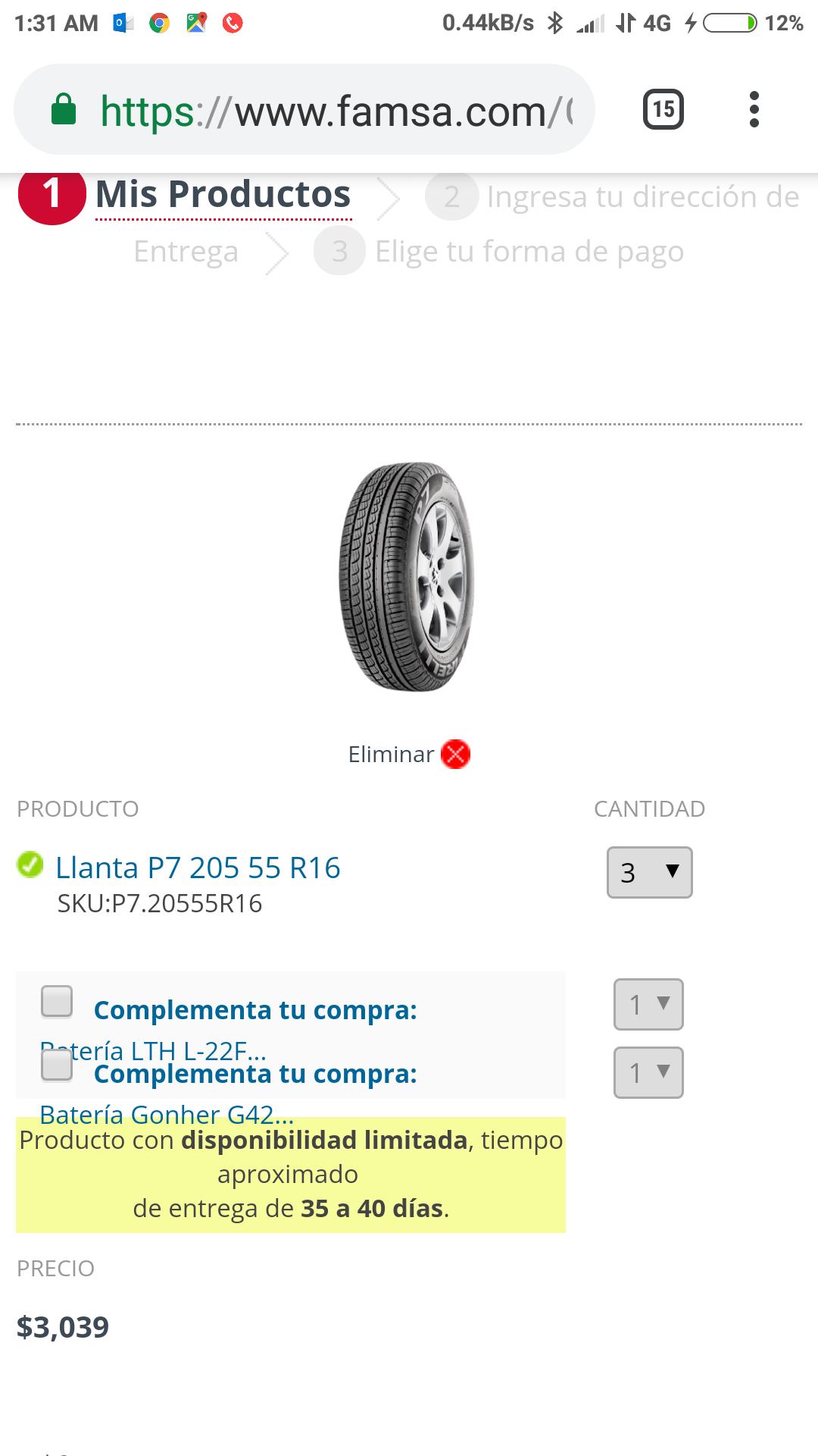 Famsa: Llantas pirrelli 205 55 R16 p7