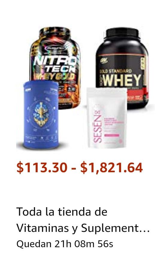 Amazon: Descuentos en varias marcas de suplementos y vitaminas
