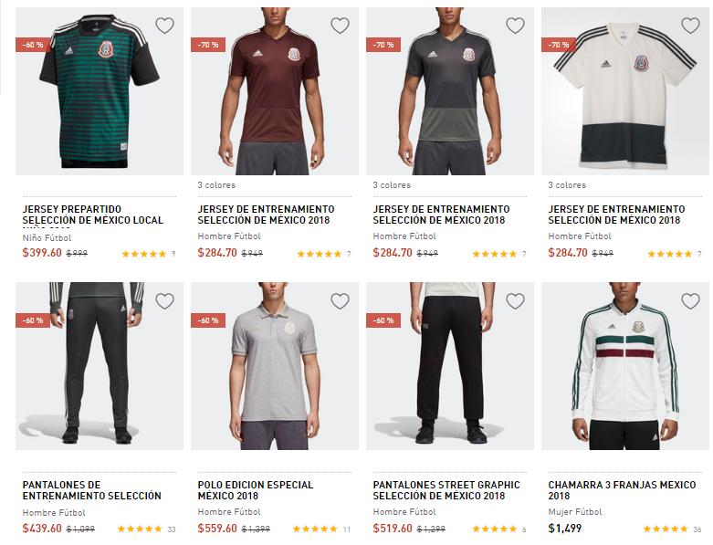 Buen Fin Adidas: varias prendas de la selección Mexicana con 70% y 60%