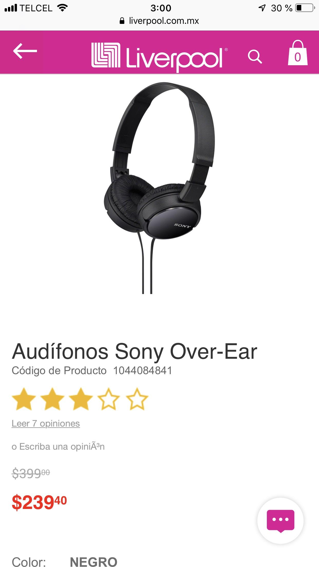 Liverpool: Audífonos Sony Over-Ear