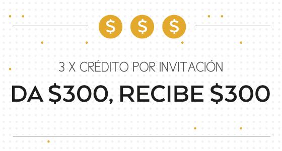 Cabify: 3 x 1 ($300) por invitaciones