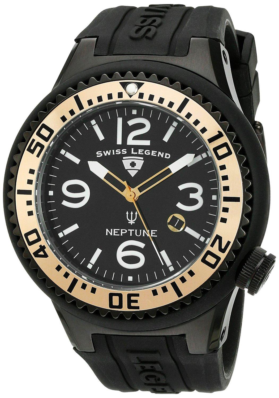 Amazon: reloj Swiss Legend Men's 21818P-BB-01-GA Neptune Black Dial Black Silicone a $585