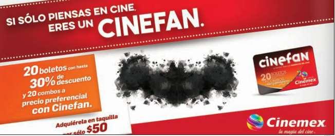 cinemex: tarjeta cinefan $50