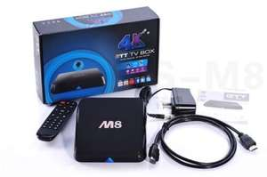 ebay: M8 Amlogic s802 Quad Core Android 4.4 Smart Tv Box Xbmc 4k Miracast + Air Mouse 20 dólares