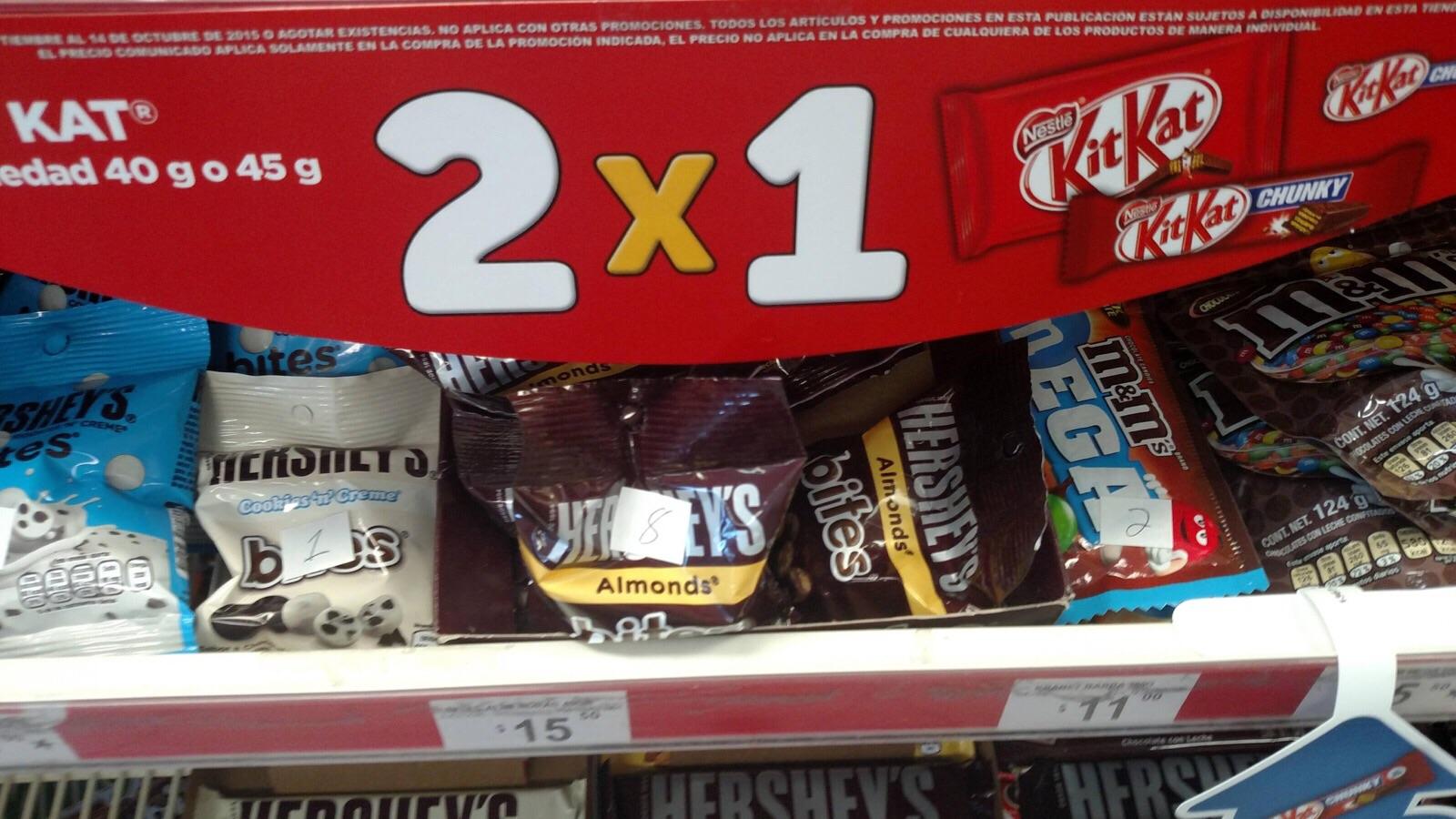 Oxxo: 2x1 en chocolate Kit Kat