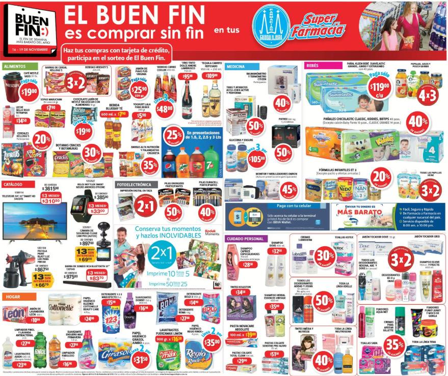 Ofertas del Buen Fin 2018 en Farmacias Guadalajara
